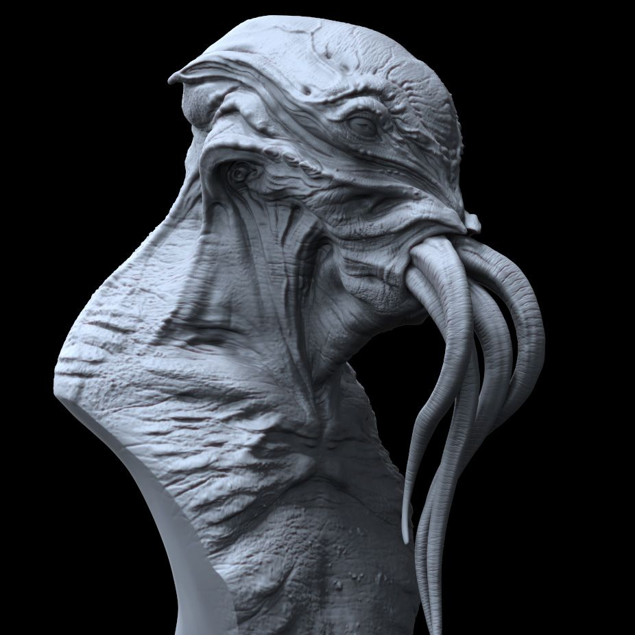 Cthulhu Tutorial- Sculpting in ZBrush | Creatures in 2019