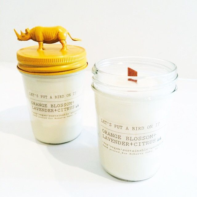 Orange Blossom Rhino Candle