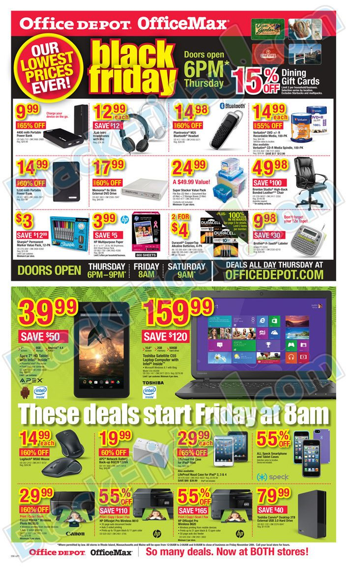 Office Depot And Officemax Black Friday 2014 Page 6 Office Depot Black Friday Office Max