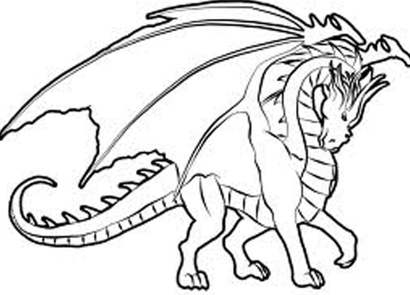 Childrens animal colouring pages - Hard Coloring Pages Of Dragons