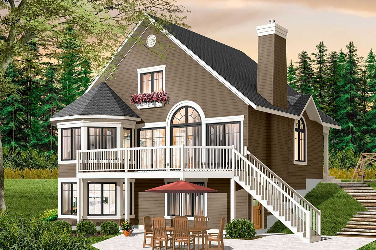 Plan 21960dr Year Round Cottage With Options Lake House Plans Drummond House Plans House Plans