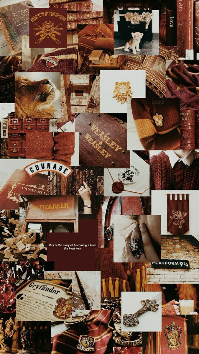 Gryffindor Aesthetic Collage Wallpaper
