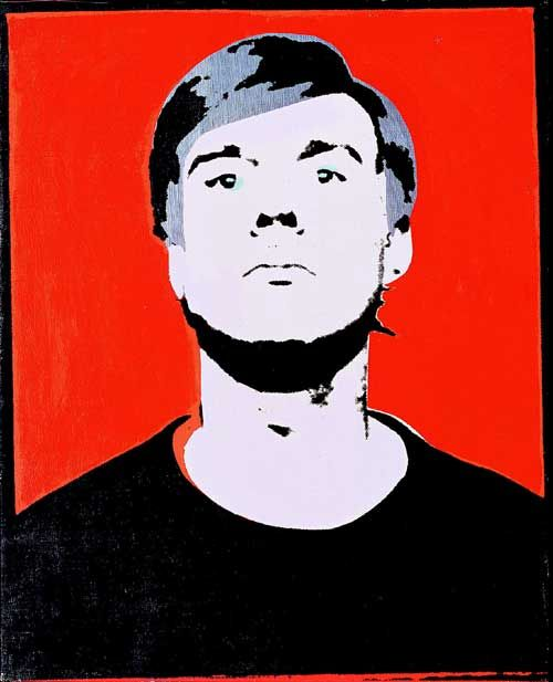 Andy Warhol, Self-Portrait, 1964. Acrylic, silver paint and silkscreen ink on canvas 50.8 x 41 cm. Froehlich Collection, Stuttgart © 2004 Andy Warhol Foundation for the Visual Arts / ARS, New York