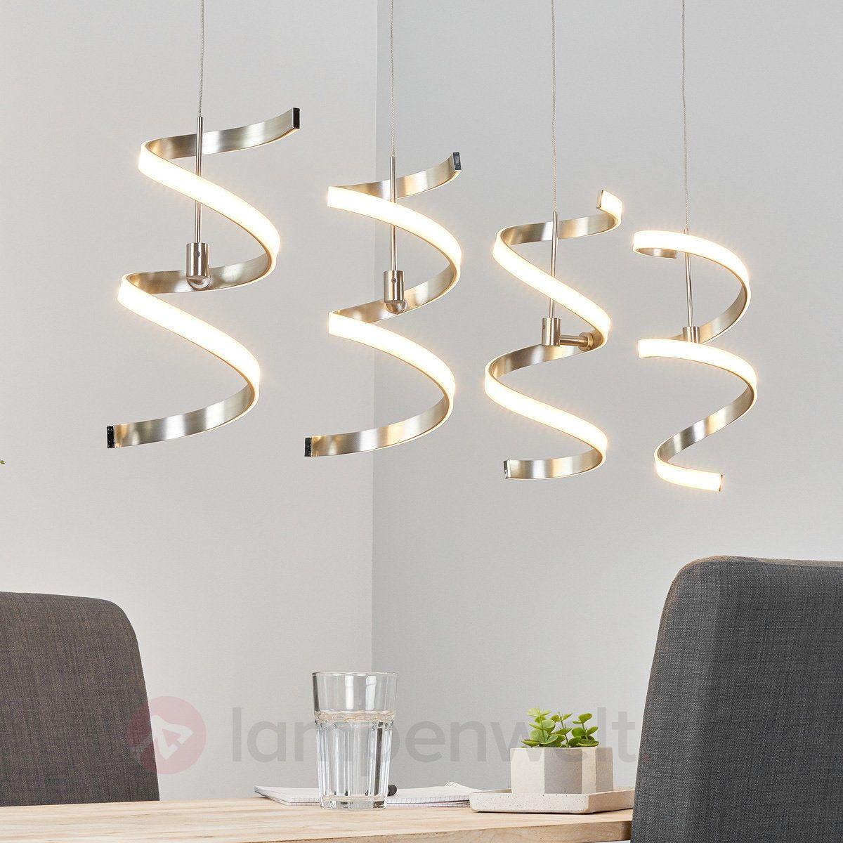 Fesselnd LED Hängeleuchte Pierre Spiralen 4 Flammig Esszimmer Hängelampe Modern LEDs