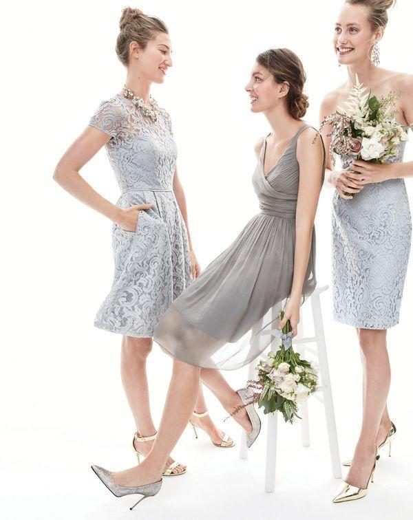 Dec 15 Style Guide J Crew Women S Alisa Dress In Leavers Lace Heidi Silk Chiffon And Cathleen