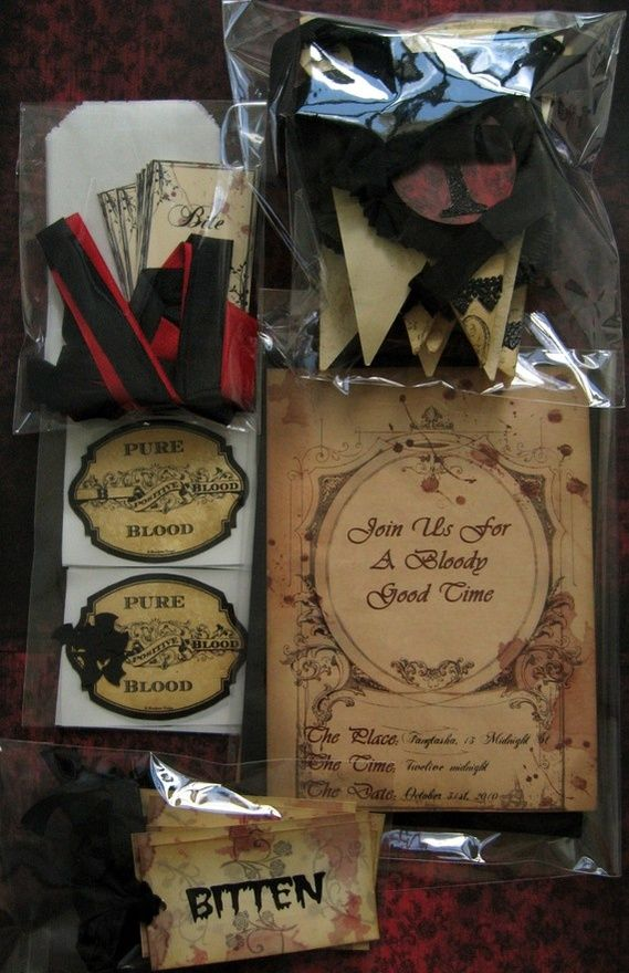 Vampire party idea- for birthday Party Ideas Pinterest Vampire - halloween ideas party