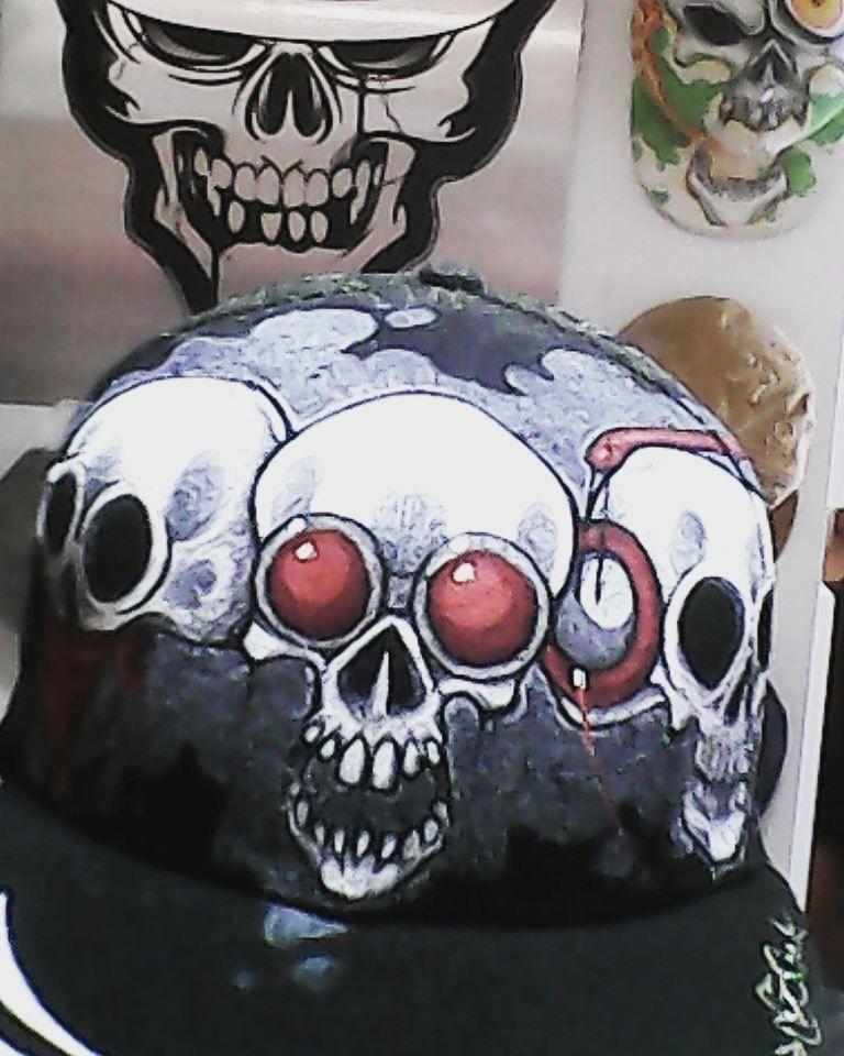#Unik #Cap #And #Capholder #collab #Hatarck @gomjahrash  #Painting #streetart #streetWear #accessories #Style #Skull #skate #Surf #bmx #fmx