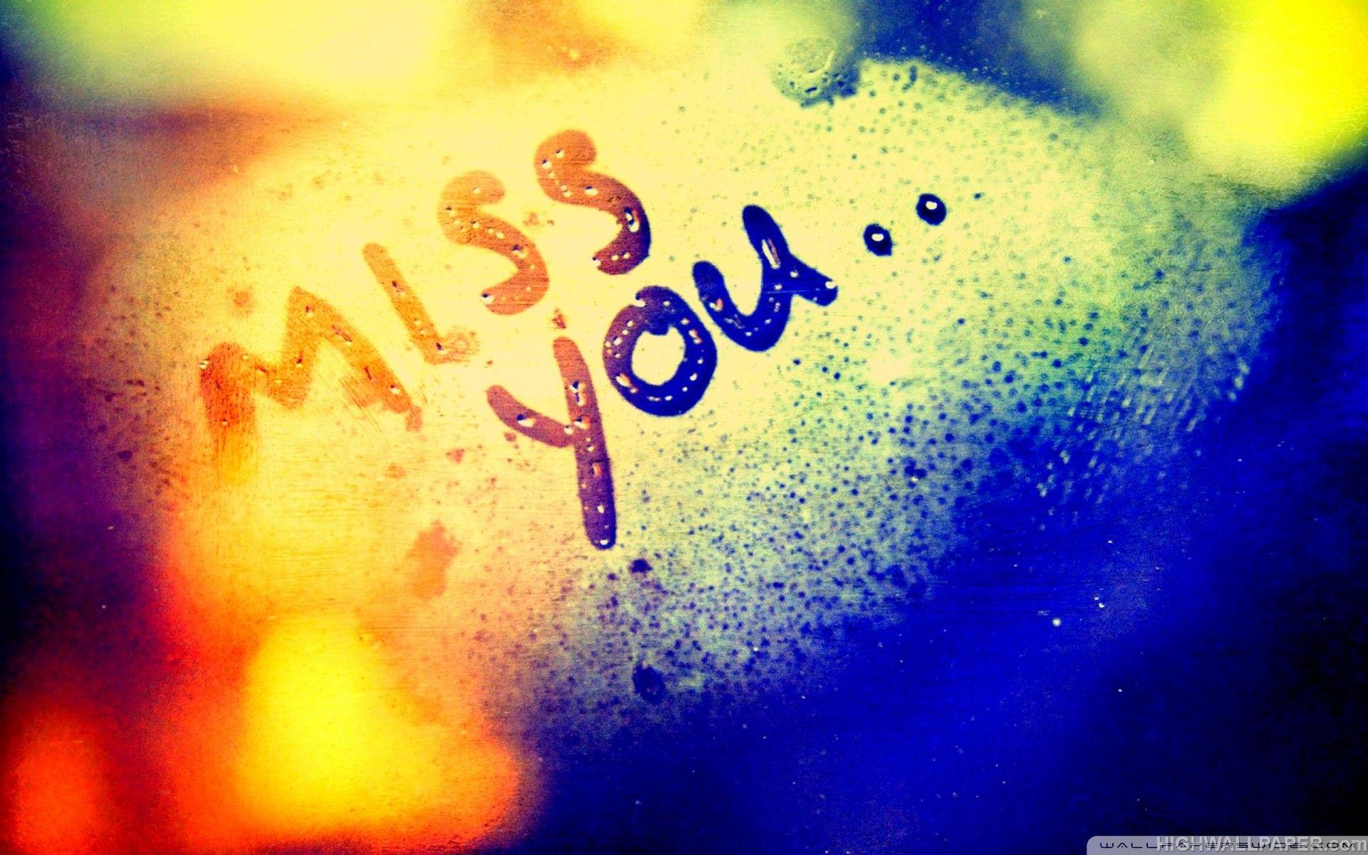 Download Miss You Written on Fog HD Wallpaper For Desktop