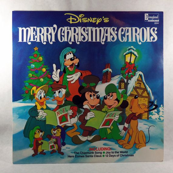 disneys merry christmas carols vinyl 1980 - Disney Christmas Music