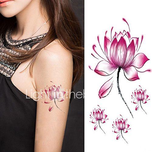halloween vrouwen lotusbloem tattoo tijdelijke tattoo stickers tijdelijke body art waterdichte tattoo 2017 - $27.45
