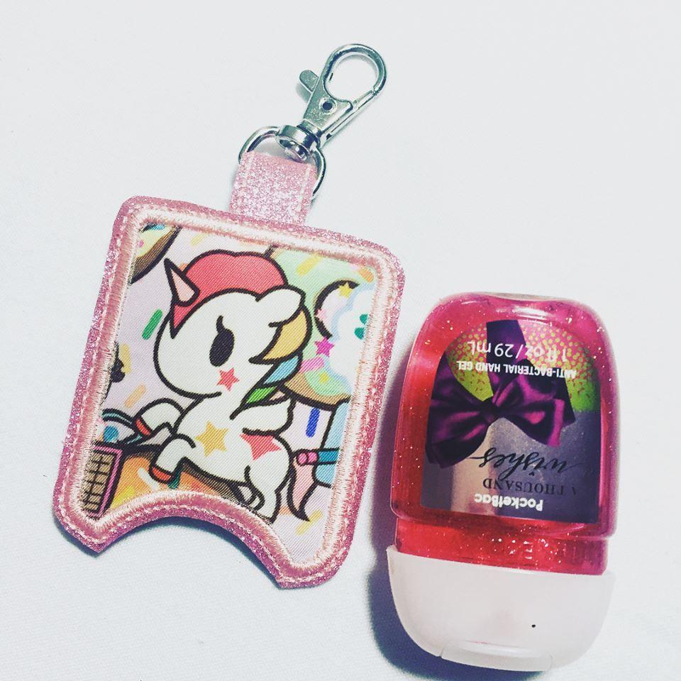 Teacher Hand Sanitizer Holder Sanitiser Keyring Keychain Holder