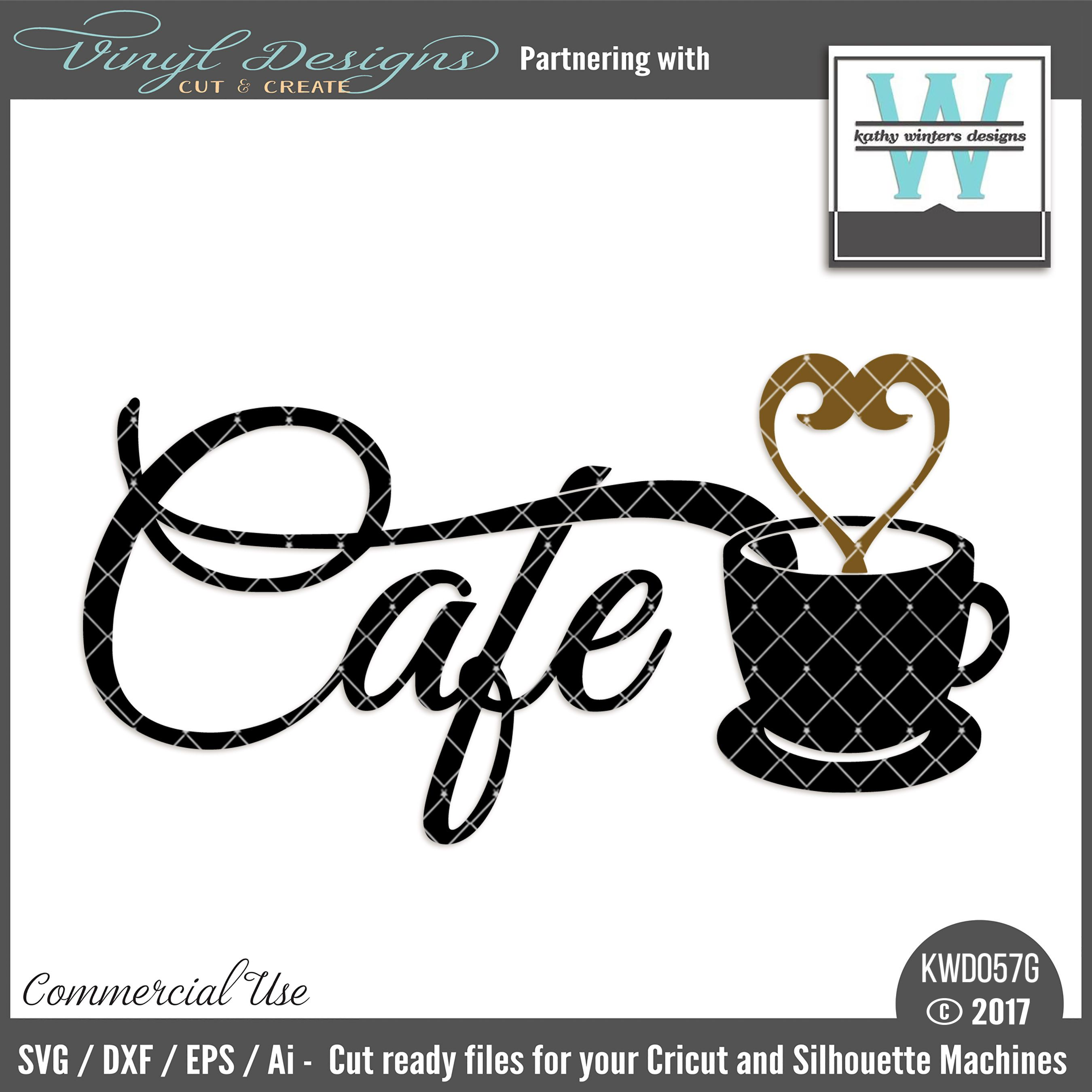KWD057G Cafe. Sold By Kathy Winters DesignsSmall business