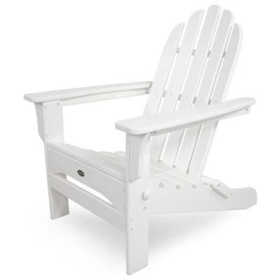 Trex Outdoor Furniture Cape Cod Classic White Folding Plastic Adirondack Chair Txa53cw The Home Depot Trex Outdoor Furniture Home Depot Adirondack Chairs Adirondack Chairs Patio