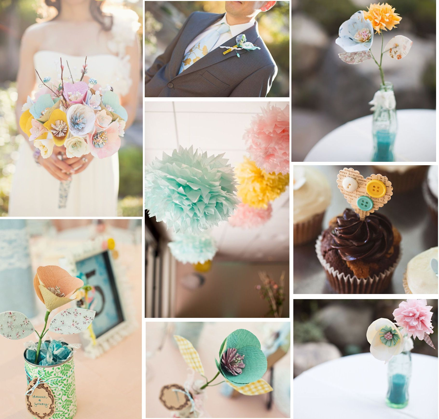 Diy wedding table decorations ideas  For the crafty person  My dream came True   Pinterest  Diy