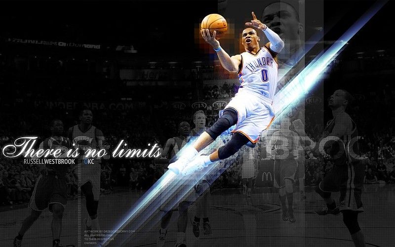 Russell Westbrook 2015 Oklahoma City Thunder NBA Wallpaper