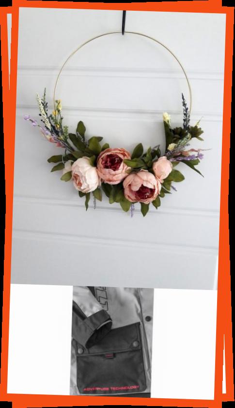 Moderne Elegante Pfingstrose Kranz Minimalistische Geschenk Home Decor Hochzeit Dekoration Reif In 2020 Wreaths Decor Hoop Wreath