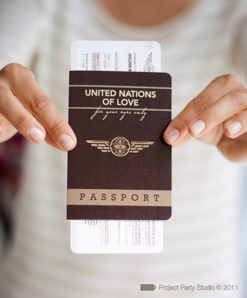 Project Party Studio Wedding Custom Design Lacre Stamp Passport