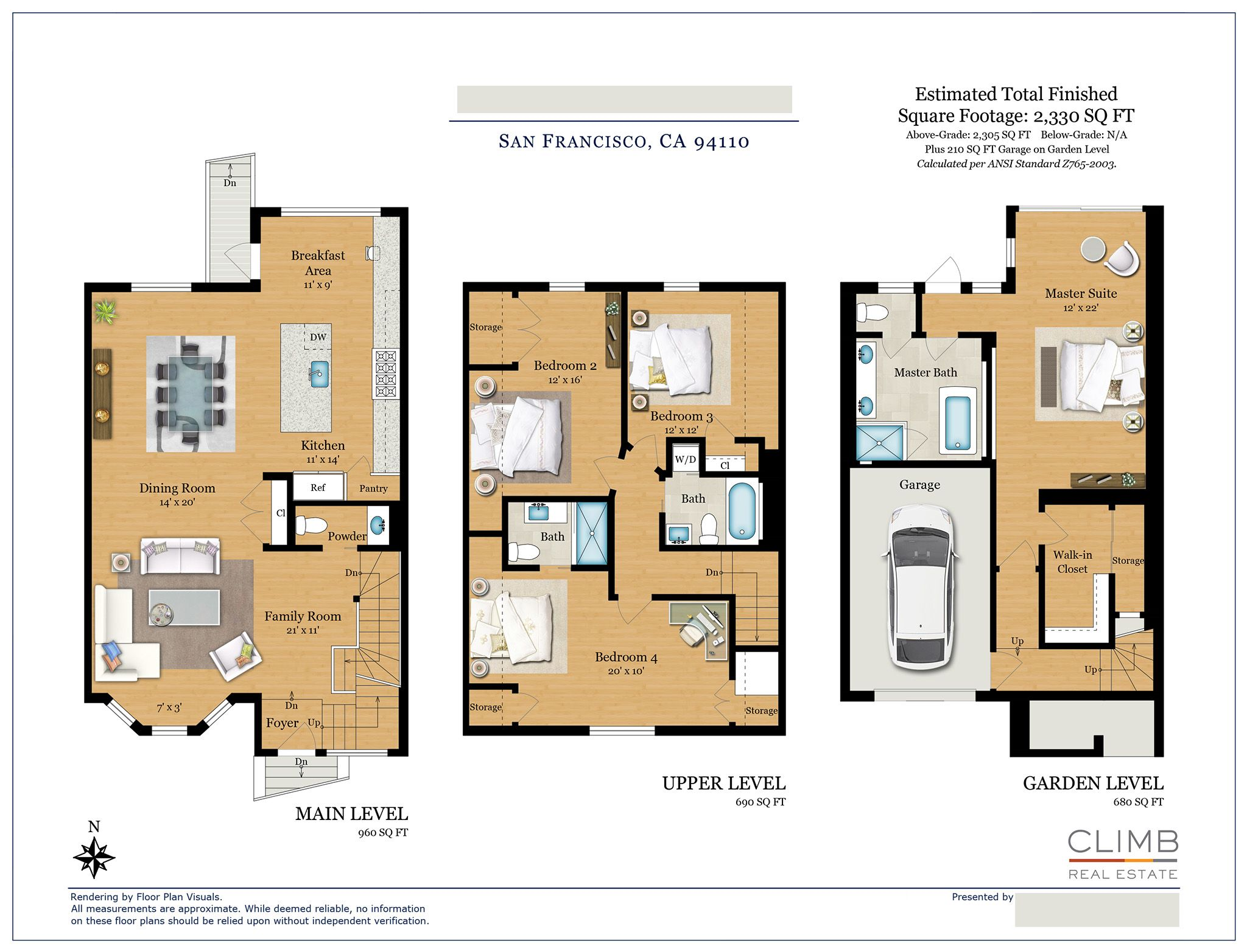 Location San Francisco Ca Property Type Townhouse Size 2 330 Sq Ft Order Co Floor Plans How To Plan Residential Architecture