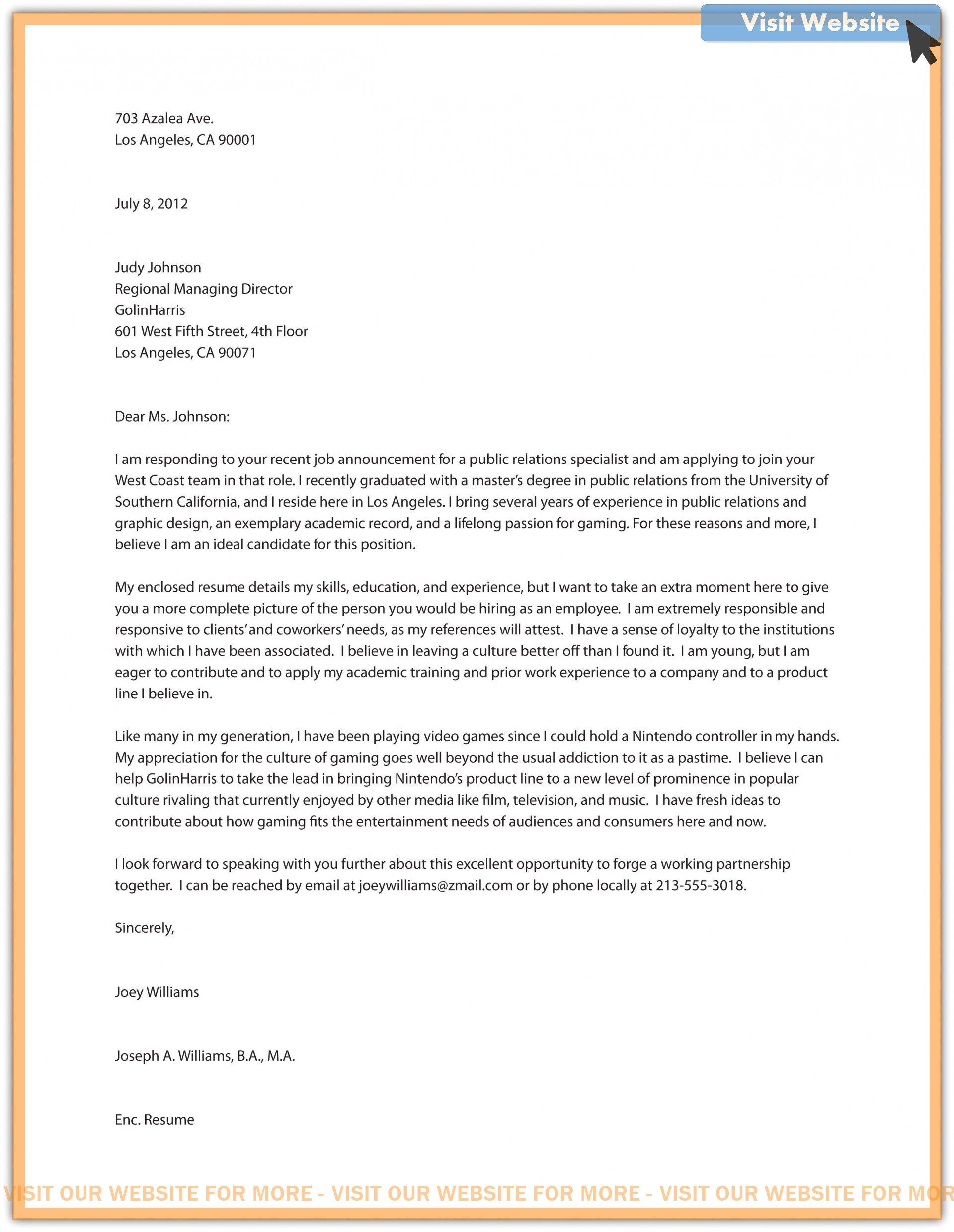 mba admission cover letter sample in 2020 Cover letter