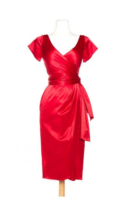 Pinup Couture- Ava Dress in Red - Plus Size | Pinup Girl Clothing