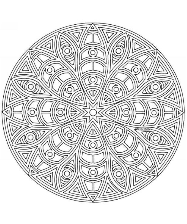 pottery coloring pages - pinterest mandala