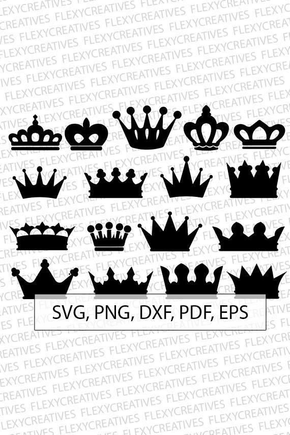 Crown Svg Queen Crown Vector Clipart Cut File Princess Crown
