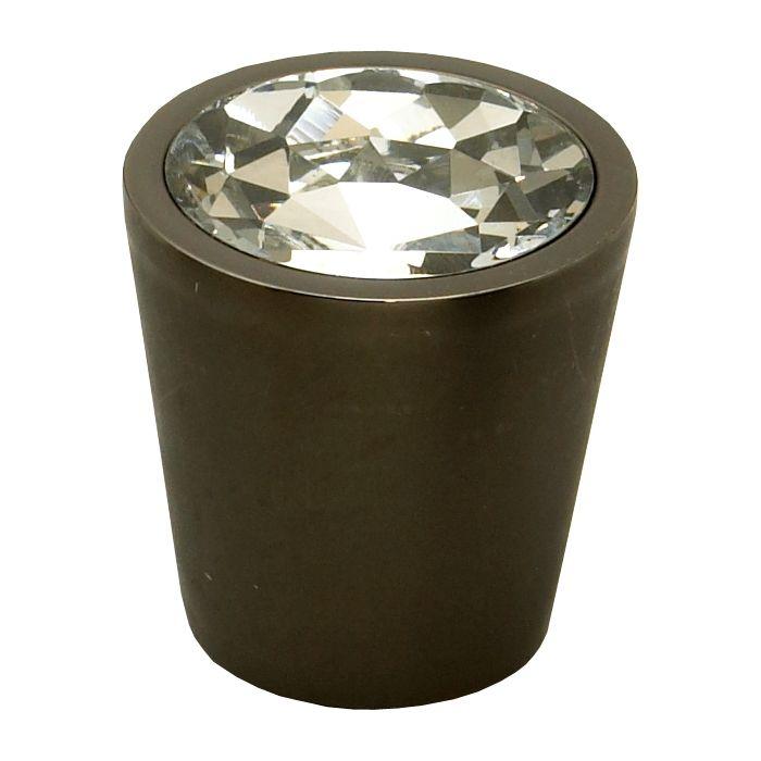 "Schaub and Company Knob 1-1/16"" Diameter Clear Crystal/Bronze 72-C-BZ"