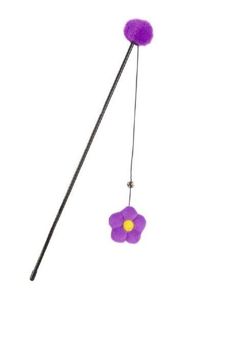 Een kleurrijke plastic kattenhengel, genaamd Floral. Met deze kattenhengel kunt u samen met uw kat, of kitten urenlang actief bezig zijn. Lengte: 40 cm.