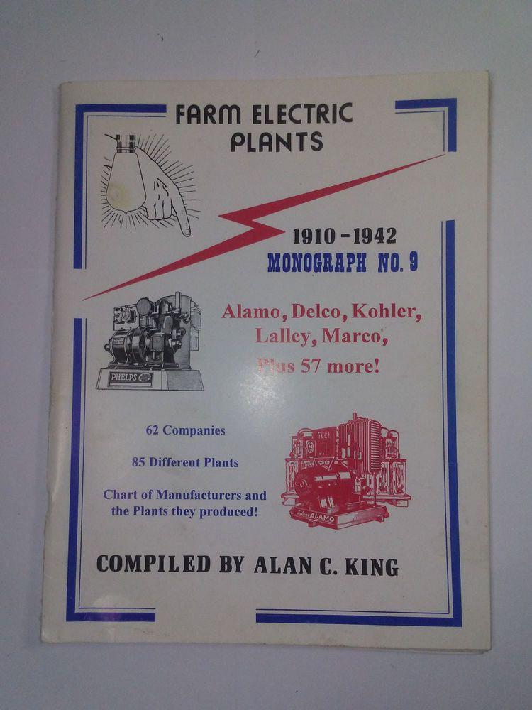Farm Electric Plants 1910 1942 Alan C King Delco Light Plant Information Chart Plant Information Delco Plants