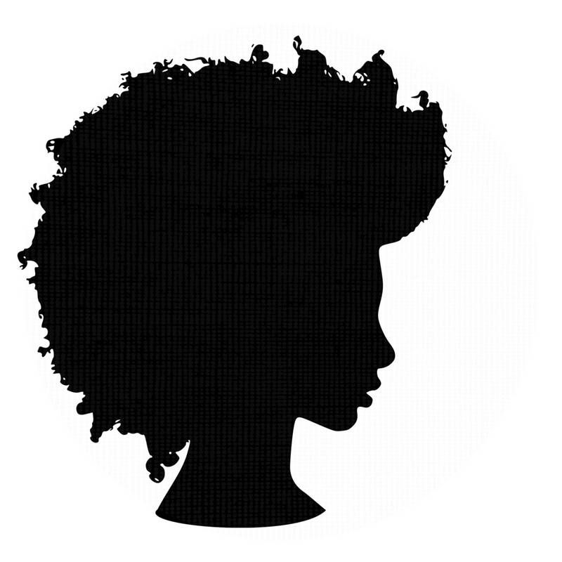 afro silhouette svg clip art natural