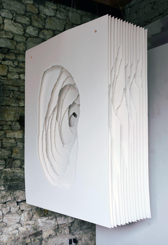 Angela Glajcar Terbloc 2014 006 2014 Paper 400 G Torn Mounting Made Of Metal 162 X 122 X 50 Cm Papierskulptur Papierschneidekunst Kunst Auf Papier