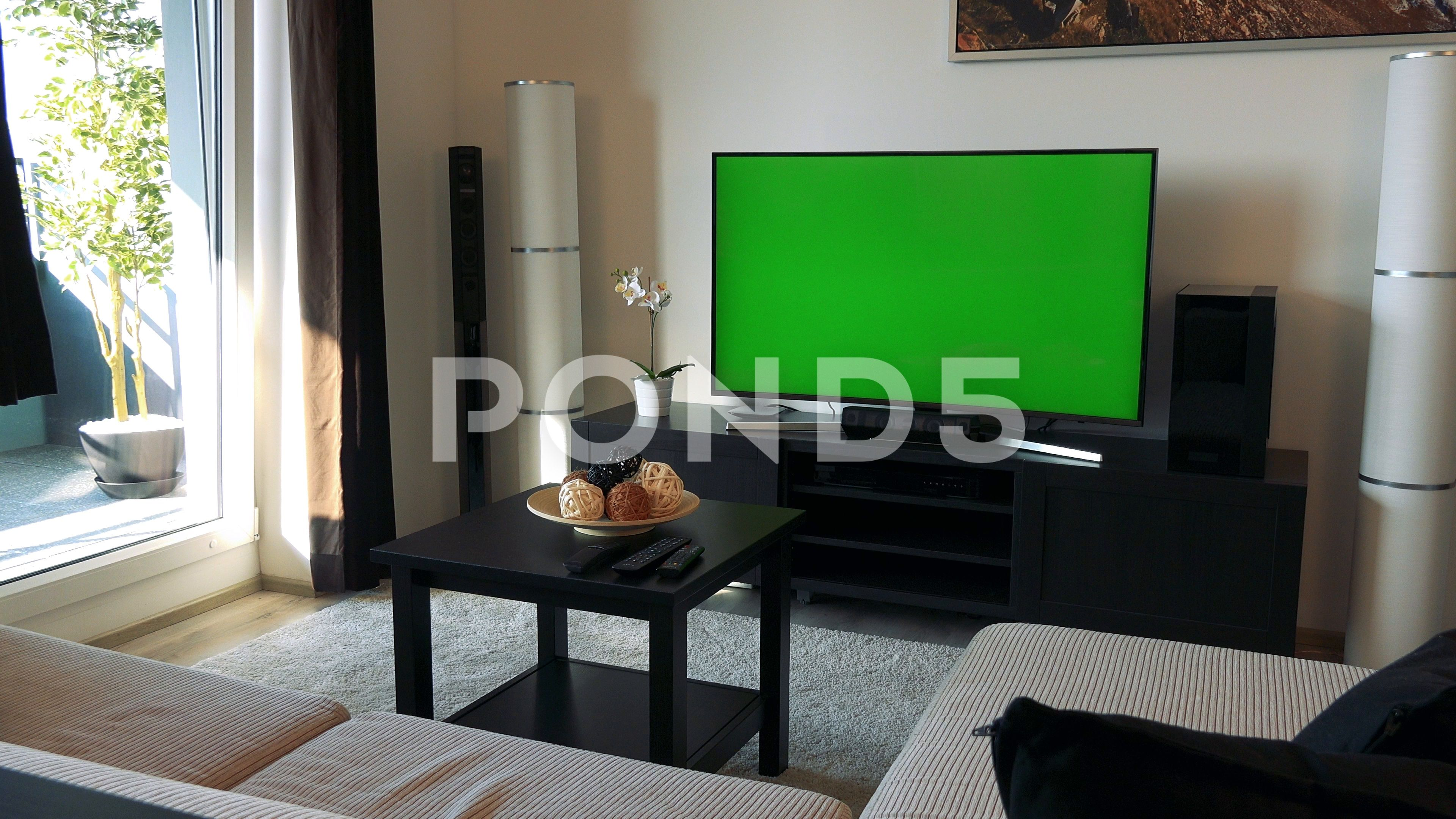 A Tv With A Green Screen In A Cozy Living Room Stock Footage Ad Screen Cozy Tv Green Cozy Living Rooms Cozy Living Greenscreen