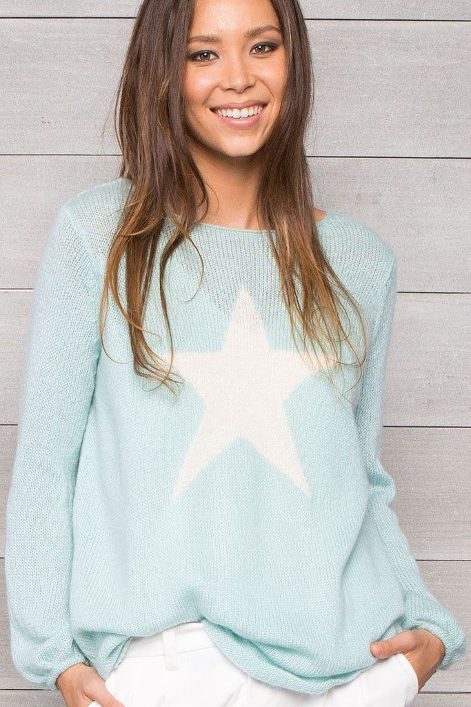 Metallic Star Crewneck Spring Summer 2018 Graphic Sweaters