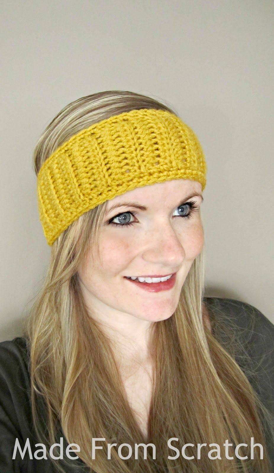 I made this crochet head band the other night out of pure necessity ...