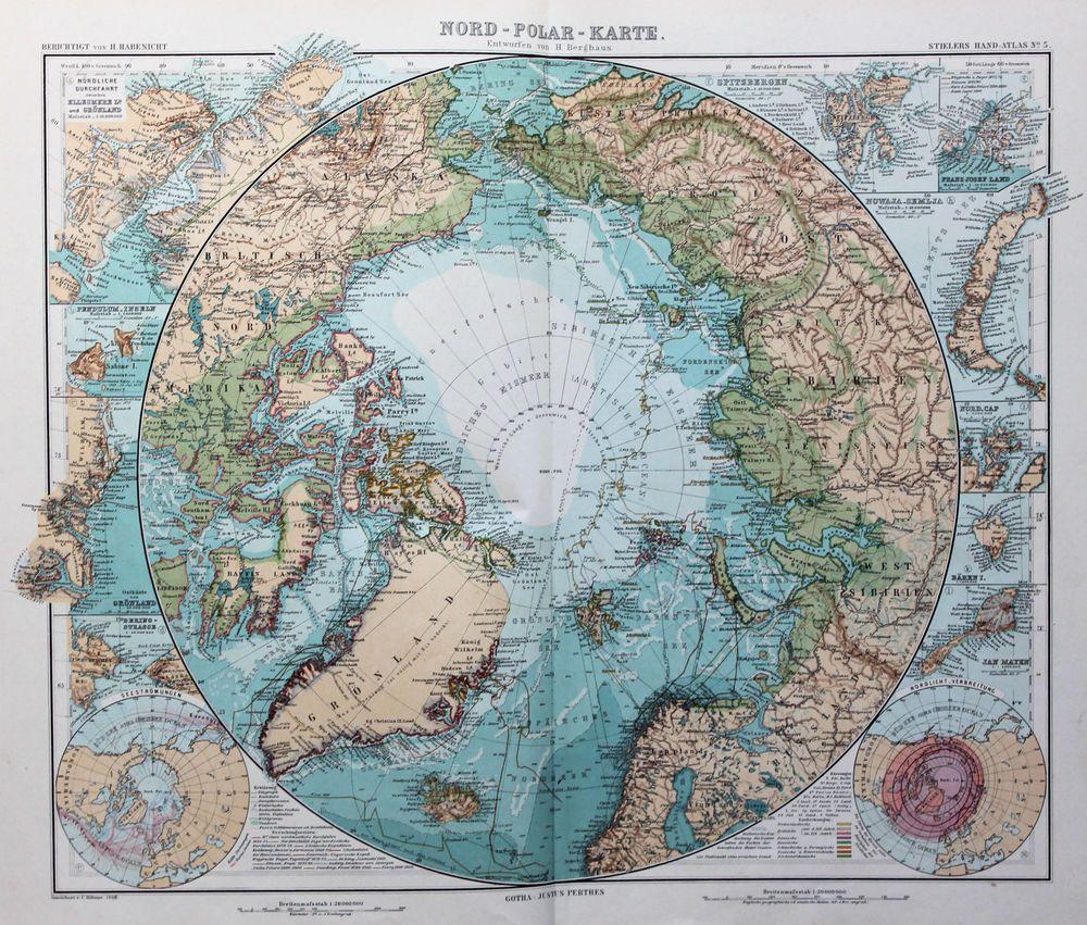 Stieler Antique Colour Map x Arctic Circle