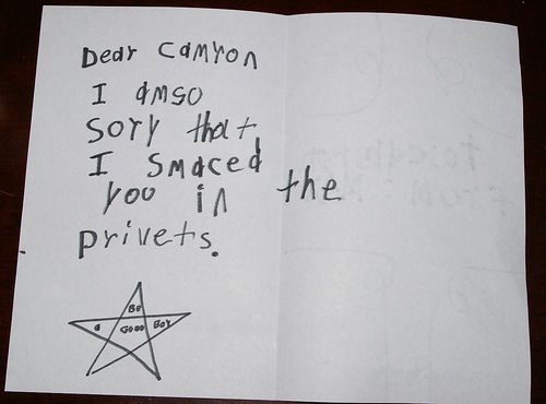 IM Sorry Letters From Kids Who Actually ArenT A Bit Sorry