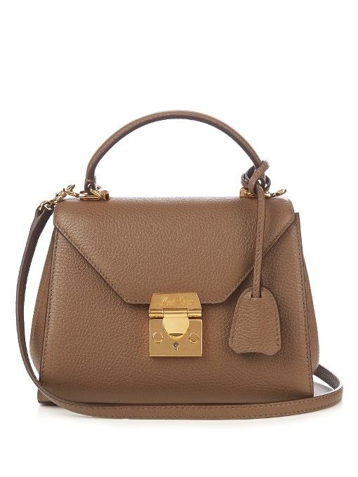 Mark Cross's Hadley Baby bag is downsized to petite proportions – perfect for holding your absolute essentials. It's expertly constructed in Italy from light-brown grained leather beautifully complemented by the 18kt gold-plated hardware.