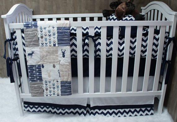 Baby Boy Nursery Bedding Crib Set, Camo And Blue Baby Bedding