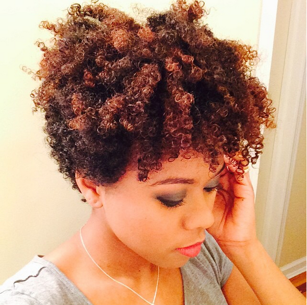 Wash And Go Short Tapered Curly Hair Girl Natural Hair Styles Short Natural Hair Styles Tapered Natural Hair