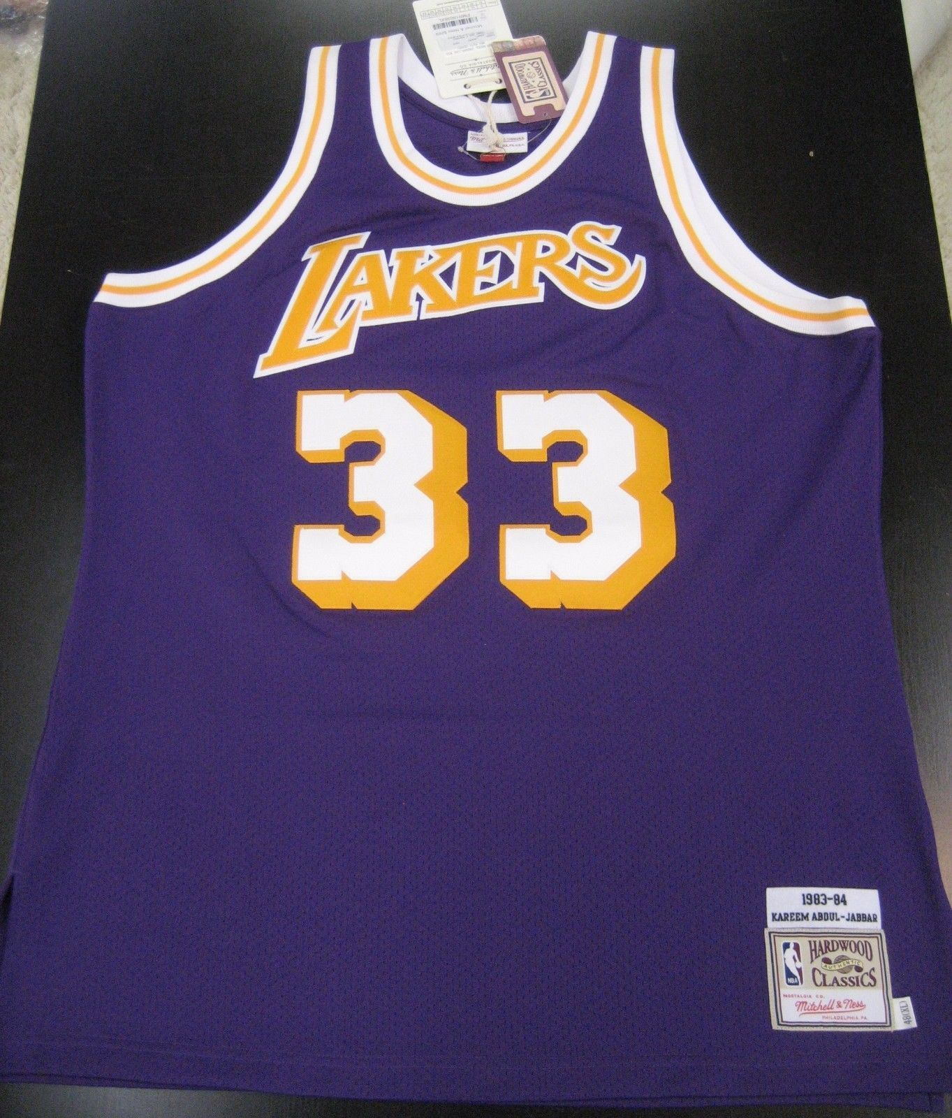 new product 241ec cc19b INCREDIBLY RARE '84 MITCHELL & NESS LAKERS ABDUL-JABBAR ...