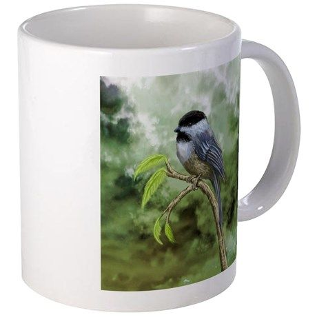 Chickadee bird Mugs on CafePress.com