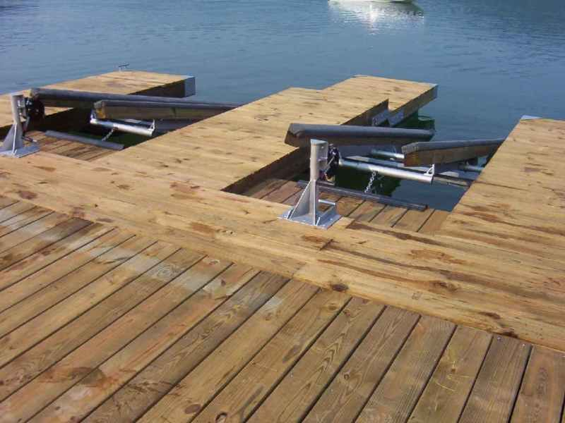 diy double pwc dock kit floating boat dock with swim platform