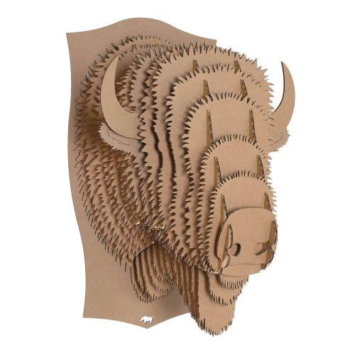 bucky m dium cerf troph e en carton cardboard safari d co int rieur pinterest le bison. Black Bedroom Furniture Sets. Home Design Ideas