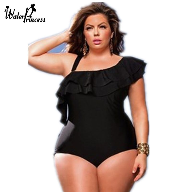2c9e90c155 L-4XL Black Sexy Backless Plus Size Swimwear One Piece Bra Padded Swimsuit  For Women Large lace Sexy large Bodysuit Bathing Suit  Affiliate