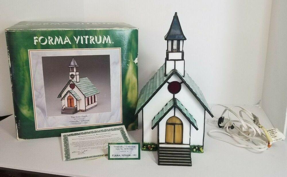 Forma vitrum vitreville tiny town church 1993 bill job w