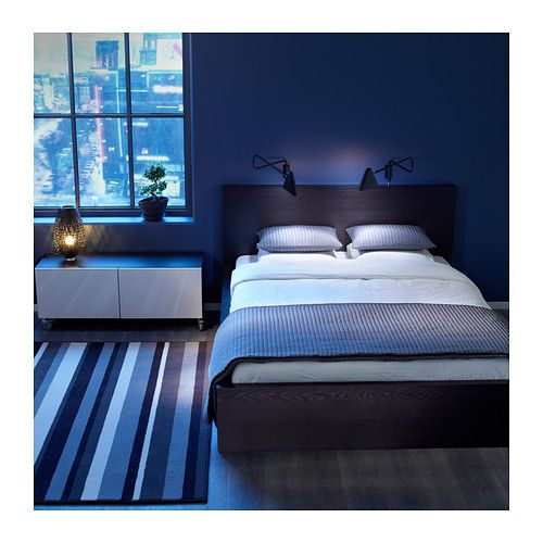 Bedroom Wall Decor Ikea Bedroom Under Window Cute Anime Bedroom Blue And Brown Bedroom Ideas: MALM Bed Frame IKEA Real Wood Veneer Will Make This Bed