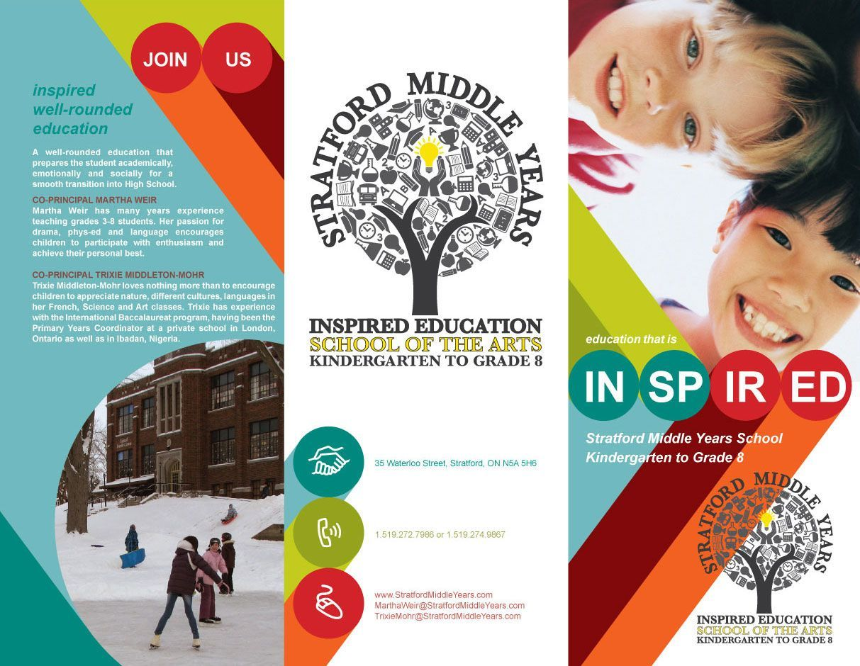 Tri fold event brochure design smys tri fold brochure for Tri fold school brochure template