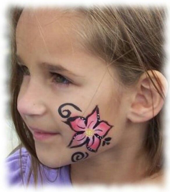 Flower Face Paint Easy Face Painting Designs Face
