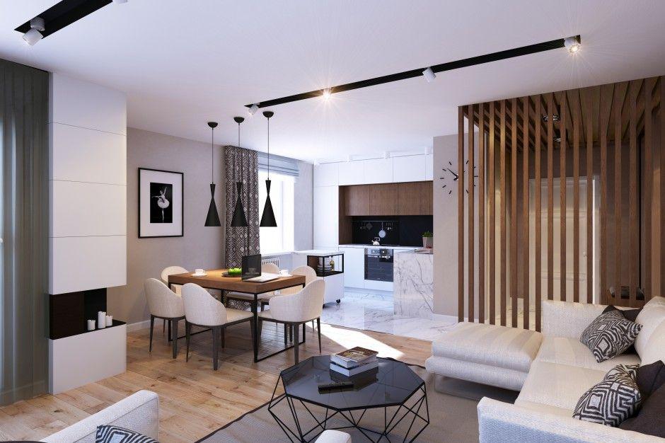 Nowoczesne Wnetrze W Bezach Szarosciach I Brazach Modern Apartment Design Apartment Design Inspiration Apartment Interior