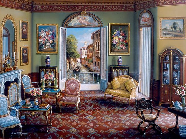 Venetian Interior By John P O Brien Artist John P O